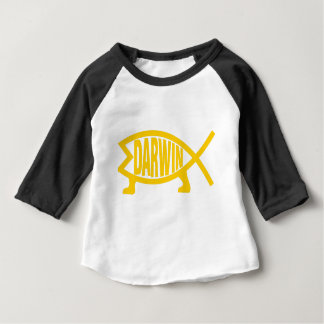 Original Darwin Fish (Mustard) Baby T-Shirt