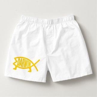 Original Darwin Fish (Mustard) Boxers