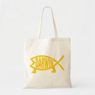 Original Darwin Fish (Mustard) Tote Bag