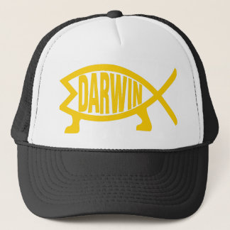 Original Darwin Fish (Mustard) Trucker Hat