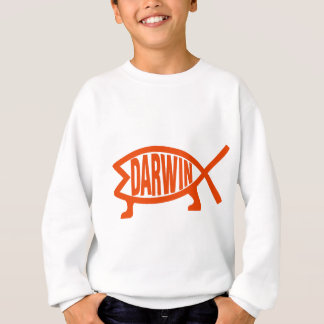 Original Darwin Fish (Neon Orange) Sweatshirt