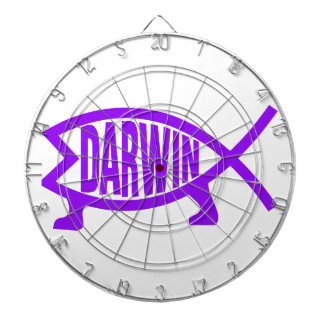 Original Darwin Fish (Purple) Dartboard