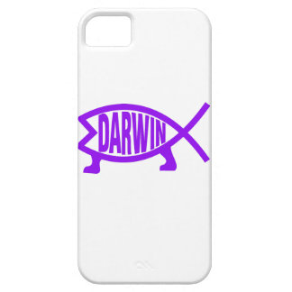 Original Darwin Fish (Purple) iPhone 5 Covers