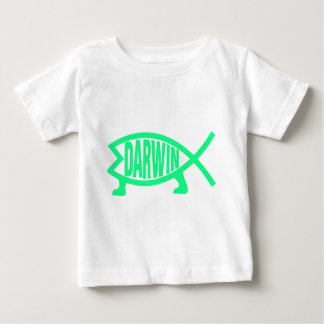 Original Darwin Fish (Seafoam) Baby T-Shirt