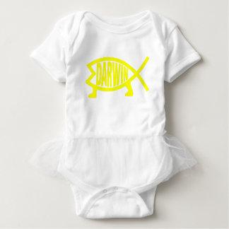 Original Darwin Fish (Yellow) Baby Bodysuit