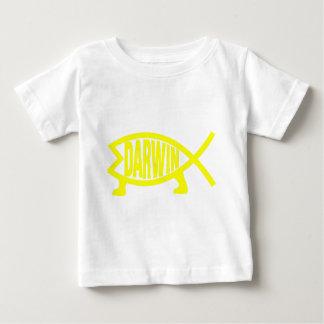 Original Darwin Fish (Yellow) Baby T-Shirt