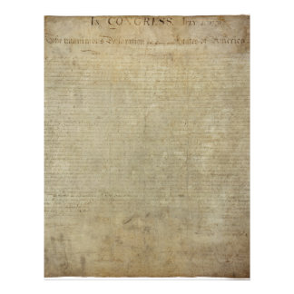 Original Declaration of Independence Letterhead Template