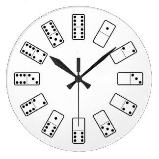 Original design black and white Domino symbols Large Clock