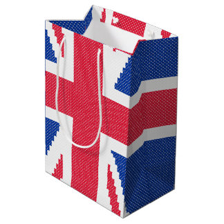 Original design Cross-stitch Union Jack Medium Gift Bag