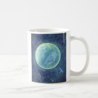 Original Design, Moon and Dragonfly Mug, Coffee Mug