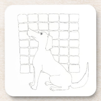 Original Dog Drawing Chinese Dog Year 2018 C Coaster