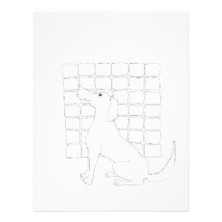 Original Dog Drawing Chinese Dog Year 2018 letter Letterhead
