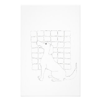 Original Dog Drawing Chinese Dog Year 2018 Sta Stationery