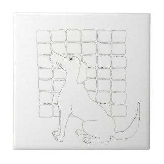 Original Dog Drawing Chinese Dog Year 2018 Tile