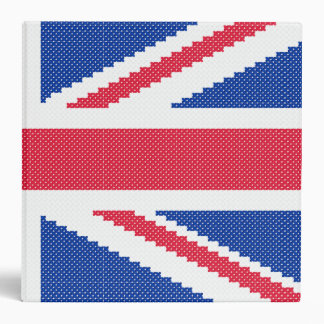Original embroidery design Cross-stitch Union Jack 3 Ring Binders
