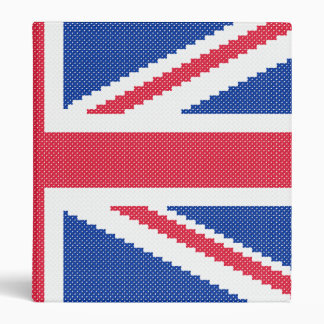 Original embroidery design Cross-stitch Union Jack Binder