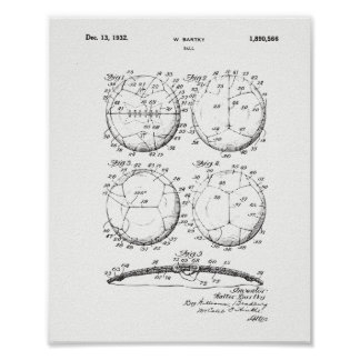 Original European Fotball Patent Print - Soccer