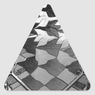 """Original famous draw """"day and night"""" triangle sticker"""