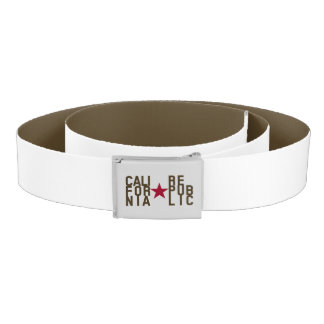 Original Fashion text design California Republic Belt