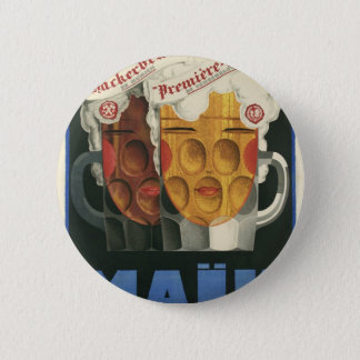 original French beer Art Deco Poster 1929 2 Inch Round Button