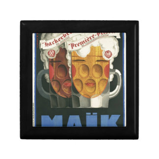 original French beer Art Deco Poster 1929 Gift Box