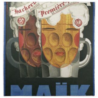 original French beer Art Deco Poster 1929 Napkin
