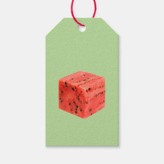 Original Fresh Sweet Red Watermelon Food Cube Gift Tags