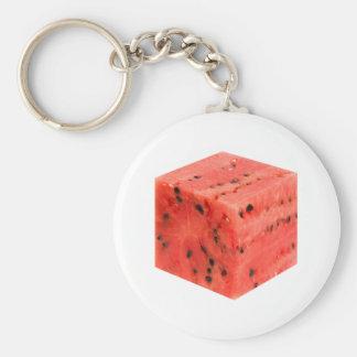 Original Fresh Sweet Red Watermelon Food Cube Keychain
