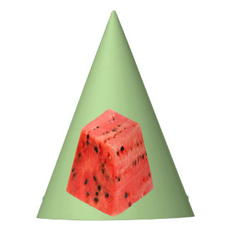Original Fresh Sweet Red Watermelon Food Cube Party Hat