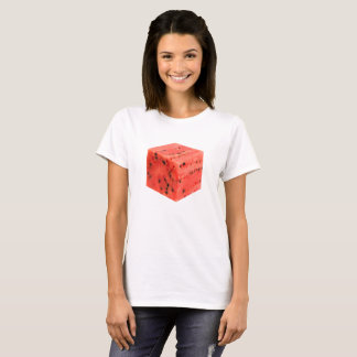 Original Fresh Sweet Red Watermelon Food Cube T-Shirt