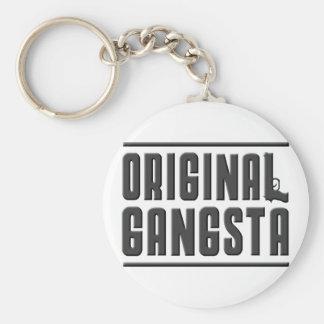 Original Gangsta Basic Round Button Keychain