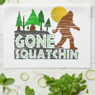 Original Gone Squatchin Design Kitchen Towel