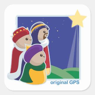 Original GPS Square Sticker