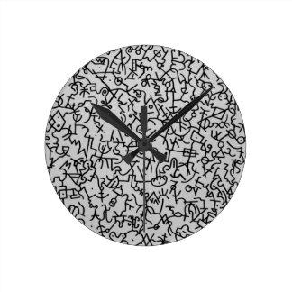 Original handmade desig. round clock