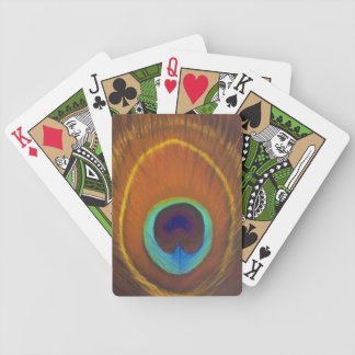 original handpainted peacock feather bicycle playing cards