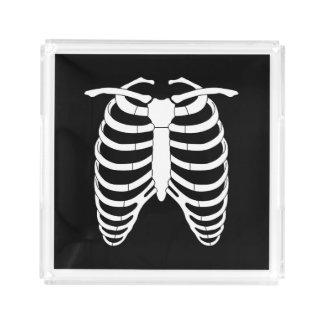 Original Horror Ribcage of a skeleton Halloween Acrylic Tray