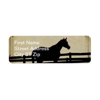 Original Horse at Sunset Address Label Best Seller