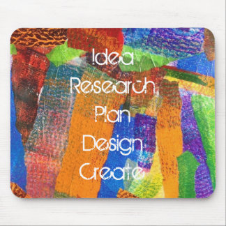 Original Inspirational Collage Art Mouse Pad