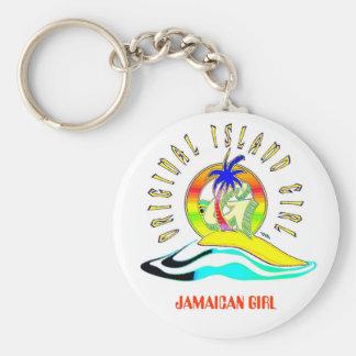ORIGINAL ISLAND GIRLZ, JAMAICAN GIRL KEYCHAIN
