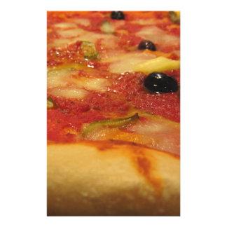 Original italian pizza stationery paper