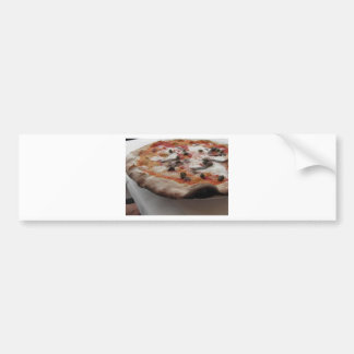 Original italian pizza with capers and anchovies bumper sticker