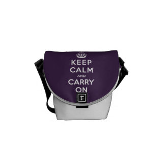 ORIGINAL KEEP CALM AND CARRY ON | PURPLE COMMUTER BAG