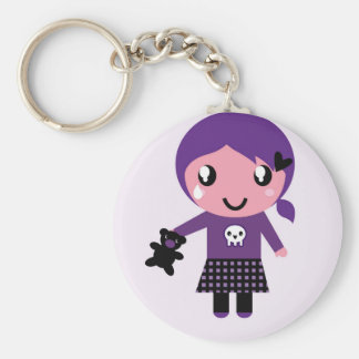 Original keychain with Emo girl