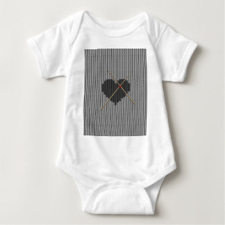 Original Knitted Heart Design Baby Bodysuit