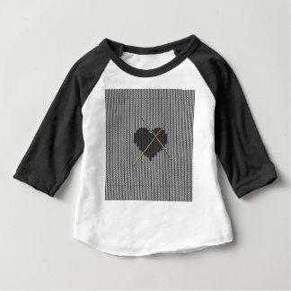 Original Knitted Heart Design Baby T-Shirt