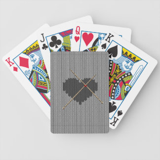 Original Knitted Heart Design Bicycle Playing Cards