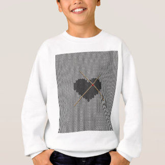 Original Knitted Heart Design Sweatshirt