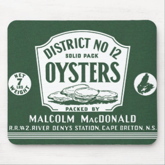 Original Label Retro Cape Breton Oysters Mousepad