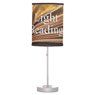 "Original library lamp ""Light"" reading,"