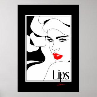 Original Lips Poster